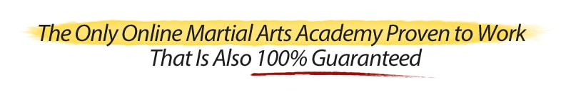 The Only Online Martial Arts Academy Proven to Work That Is Also 100% Guaranteed