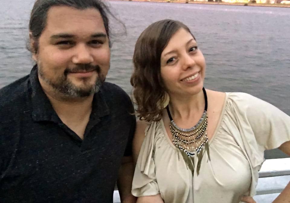Sifu Larry Rivera and Jamie Pelaez on the Odyssey III dinner cruise in Washington DC.