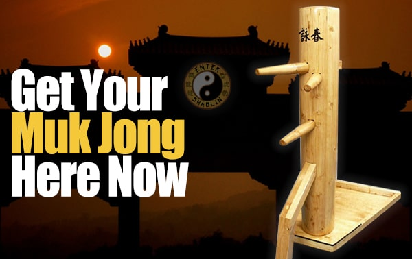 Enter Shaolin | Get your muk jong wooden dummy here.