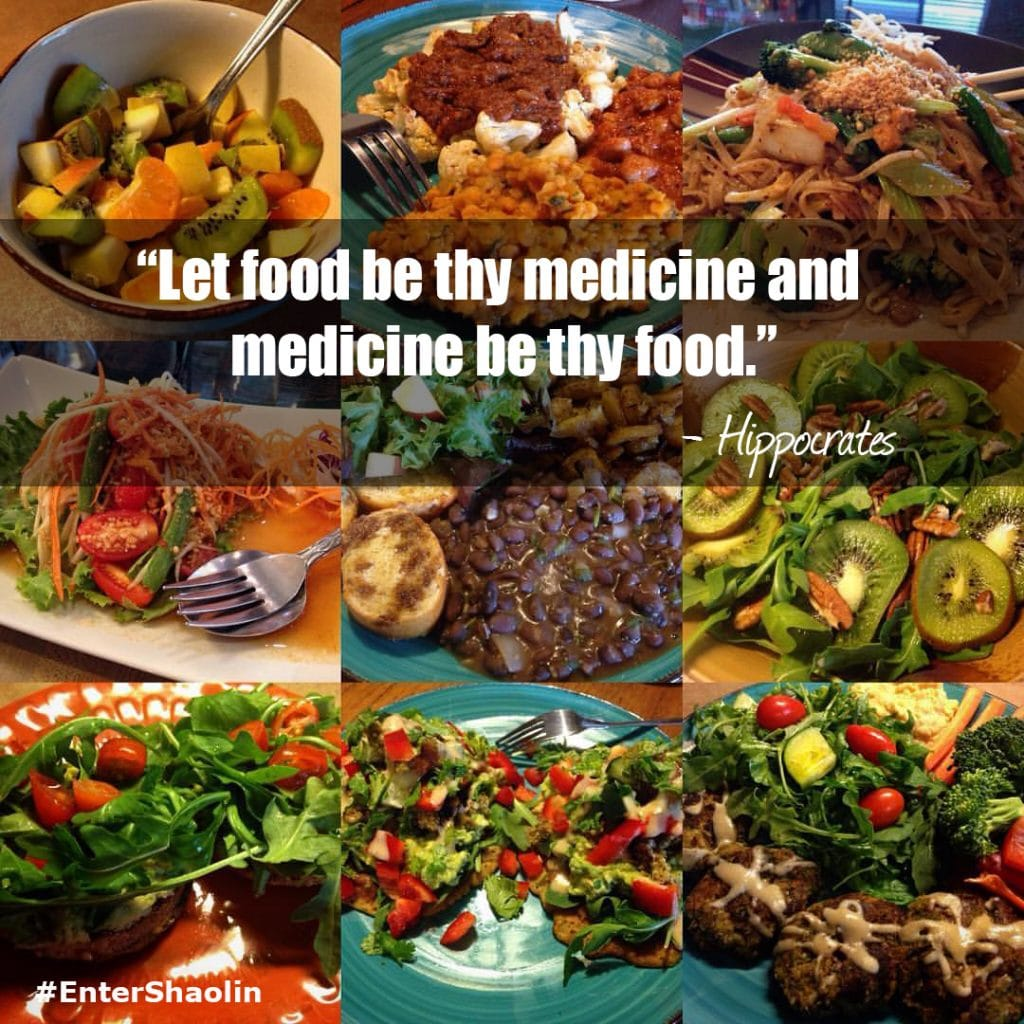 "Enter Shaolin Meme: ""Let food be thy medicine and medicine be thy food."" - Hippocrates"