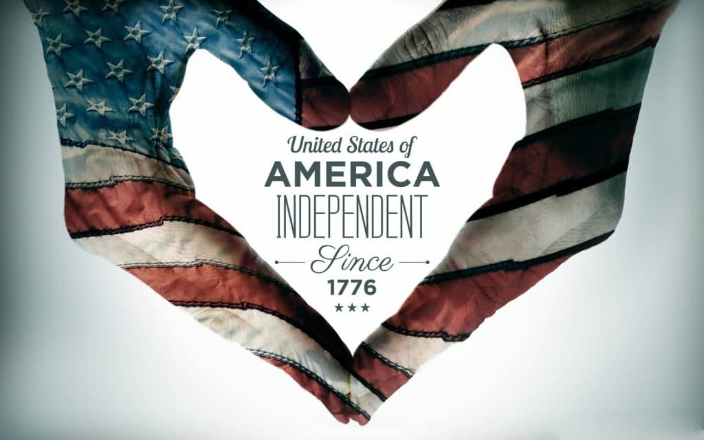 United States of America independent since 1776.