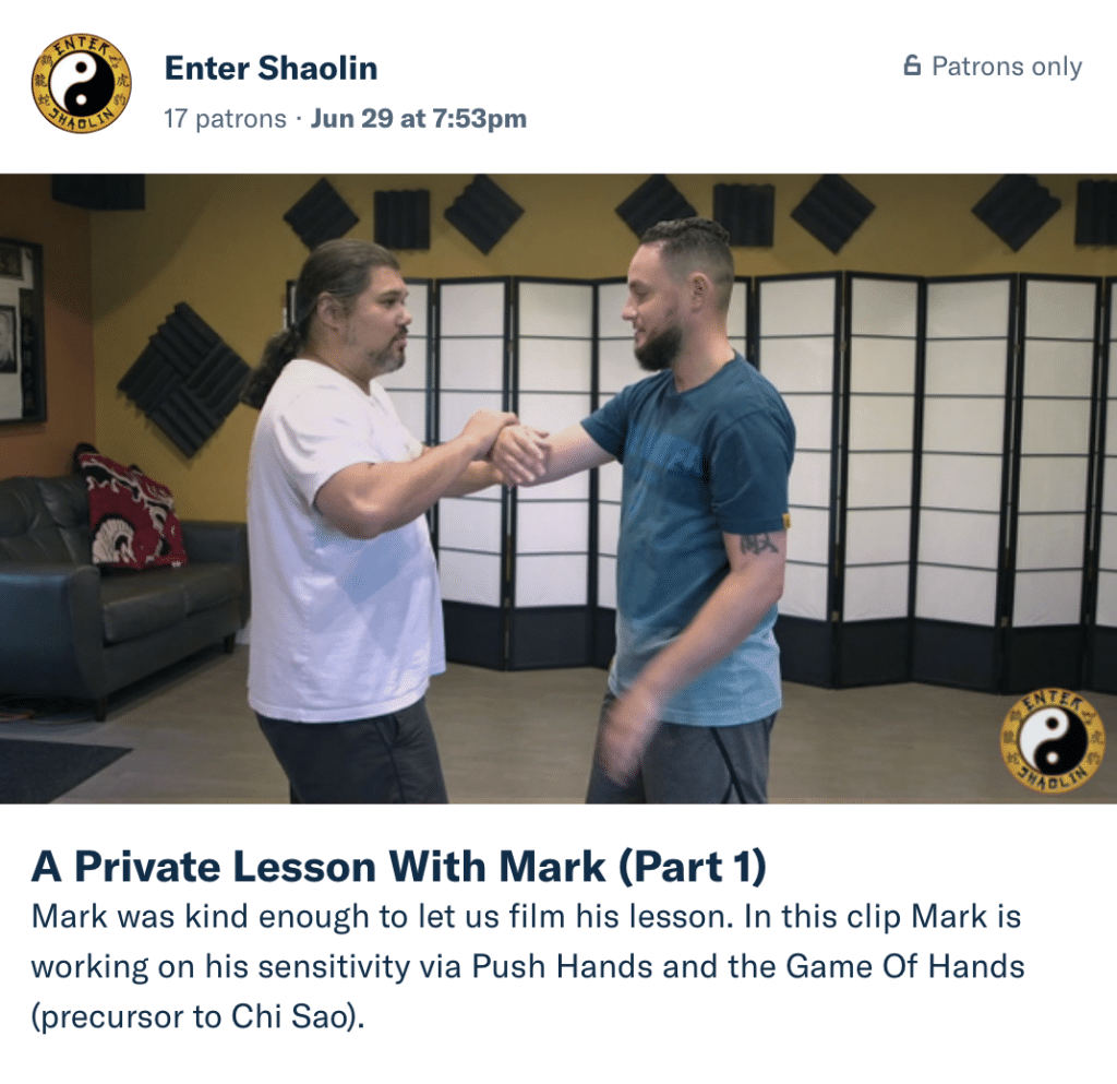 Enter Shaolin Patreon Kung Fu Training | Inside a Private Lesson