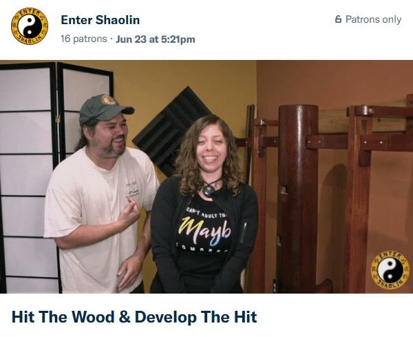 Enter Shaolin Patreon Kung Fu Training | Hit The Wood