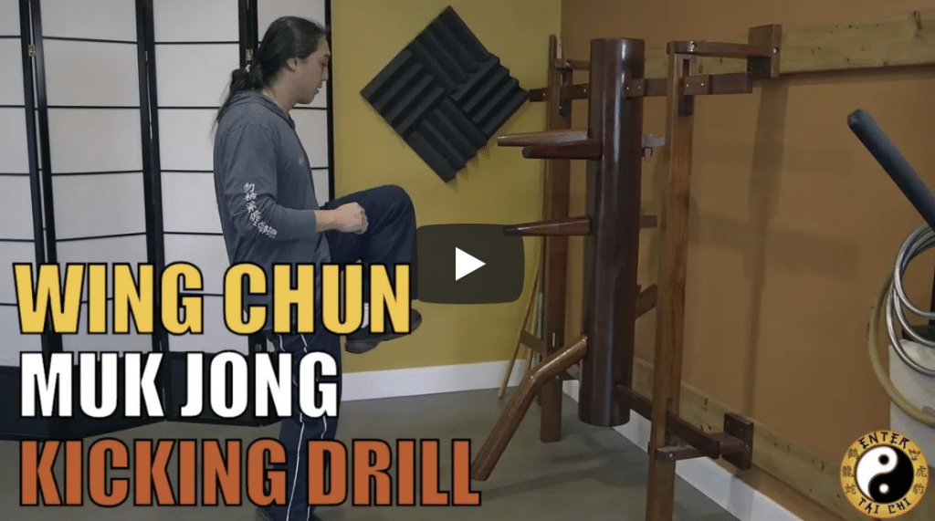 Wing Chun practitioners from around the world use a tool called a Muk Jong also known as a wooden dummy. There are a ton of different training drills you can do on jong. In this video Sifu Phu teaches you a kicking drill that will enhance your ability to hit points and strengthen your core muscles which will help you have better balance.