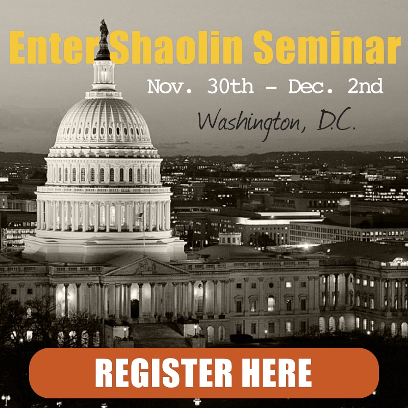 Enter Shaolin Washington D.C. Nov. 30th - Dec. 2nd 2018