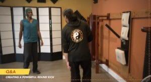 Round kick or Roundhouse kick